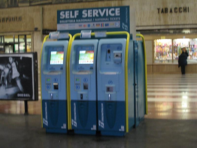 フィレンツェSMN駅の自動券売機