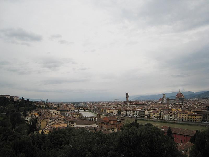 フィレンツェのミケランジェロ広場