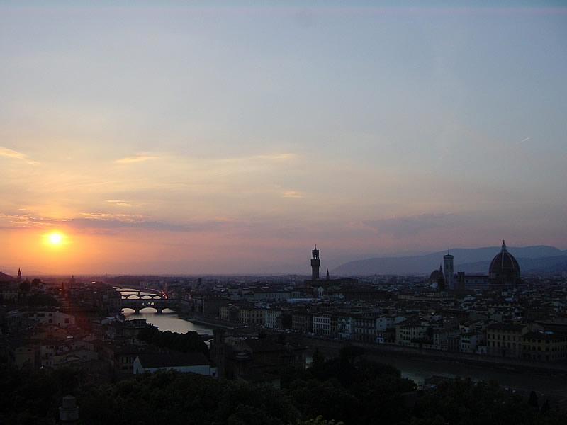 ミケランジェロ広場からのフィレンツェのパノラマ
